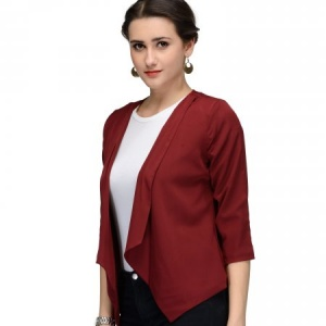 WOMEN WINE RED JACKET