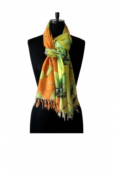 ORANGE YELLOW WOLLEN STOLE