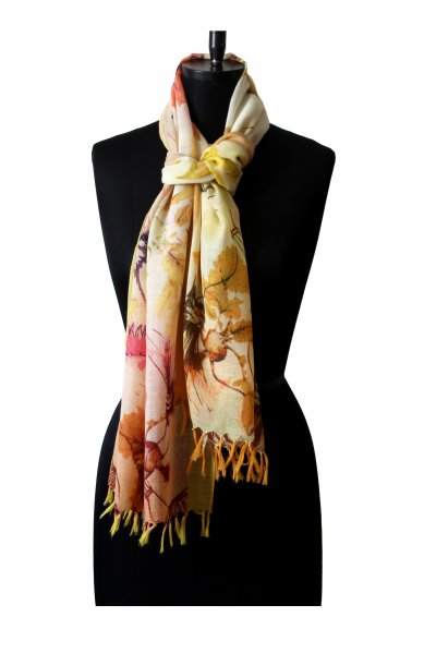 YELLOW PEACH WOOLLEN STOLE